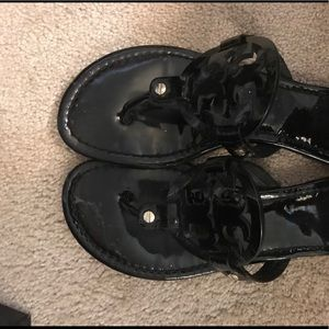 Black Tory Burch Miller sandals